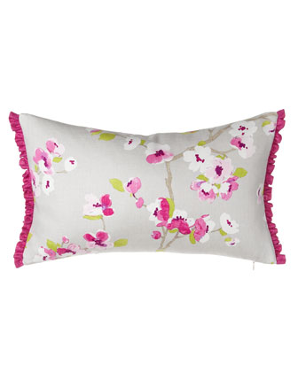 Floral Pillow w/ Ruffle, 12