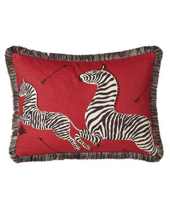 Left-Facing Zebras Pillow, 16