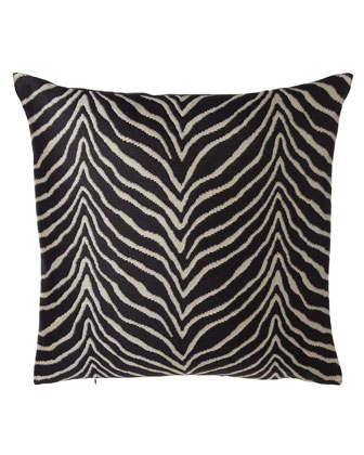 Nairobi Zebra-Stripe European Pillow, 27