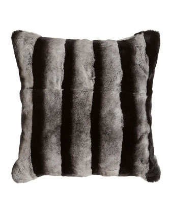 Rex Chinchilla-Printed Black-and-White Pillow