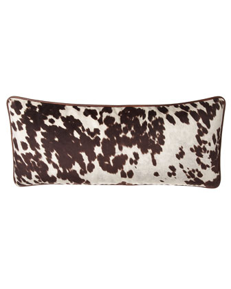 Lara Cowhide-Print Pillow