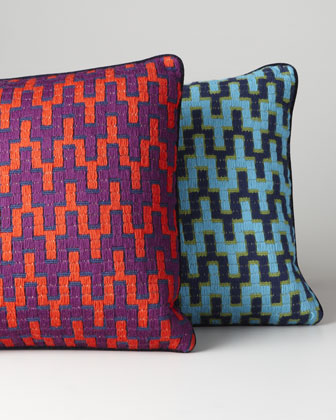 Bargello Stepped Chevron Pillow