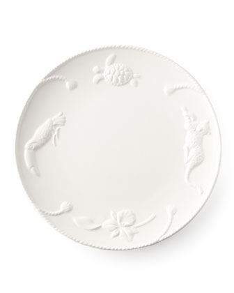 Four Jaguar Blanc Dinner Plates