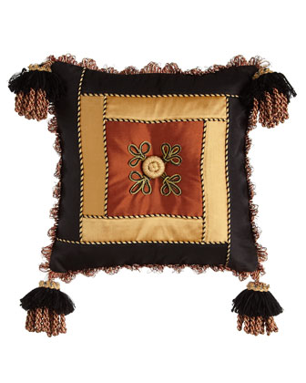 Silk Pillow w/ Corner Tassels, 13