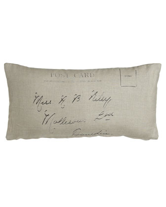 Linen Postcard Pillow, 12