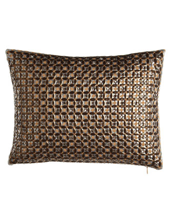 Geometric Sequin Pillow, 12