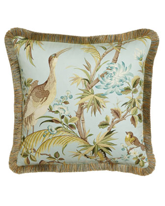 Fringed Egret Pillow, 20