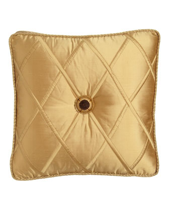 Gold Box Pillow with Rosette Center, 18