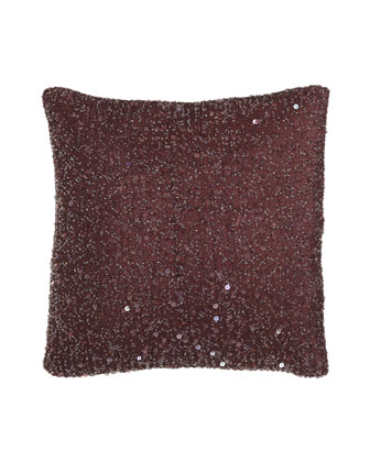 Desiree Berry Beaded Pillow