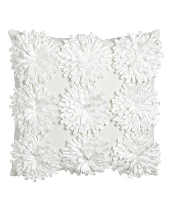 Pillow w/ 3D Flowers, 18