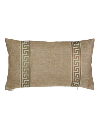 Taylor Greek-Key Pillow, 24