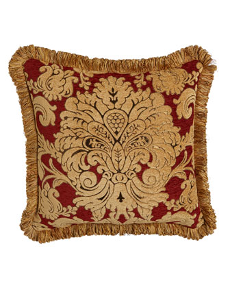Square Chenille Pillow w/ Fringe, 20