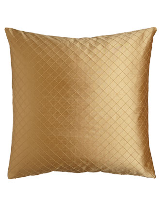Gold Pintuck European Sham