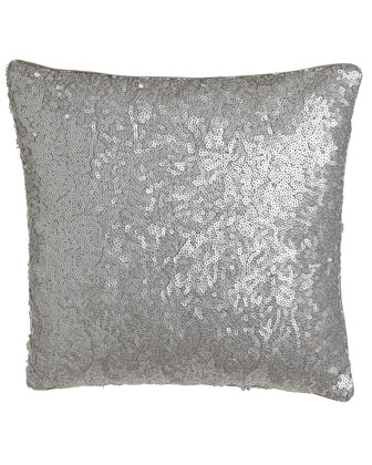 Allover-Sequin-Front Pillow, 16