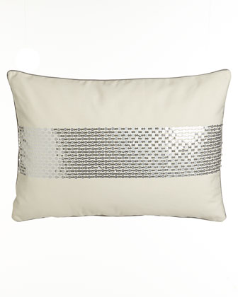 Ivory Pillow w/ Sequin Band, 14