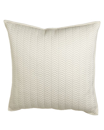 Chevron Quilted European Sham