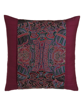 Pleated Pillow w/ Embroidered Obi Wrap Detail, 20