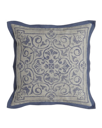 Fabienne Floral Scroll Pillow