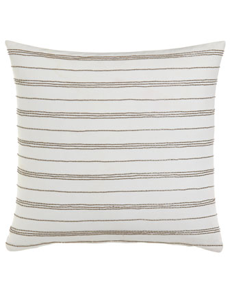 Pillow w/ Bead Stripes, 18