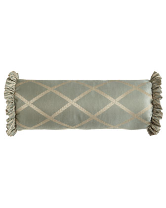 Lattice Neckroll Pillow, 7.5