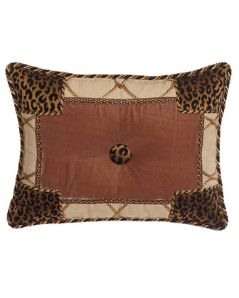 Casablanca Animal-Print Pieced Pillow, 13'x17