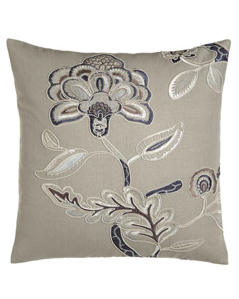 Oblong Floral Pillow, 16