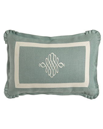 Seaglass Pillow w/ Ivory Detail, 14