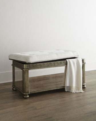 Kassidy Mirrored Storage Bench