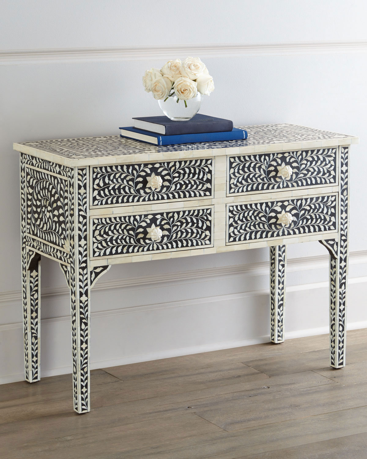 Pearland Bone Inlay Console