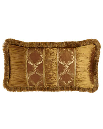 Pieced Pillow w/ Fringe, 12