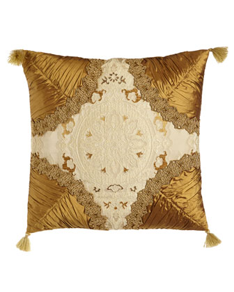 Square Pillow w/ Shirred Corners & Tassels