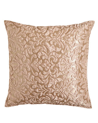 Puckered Damask European Sham