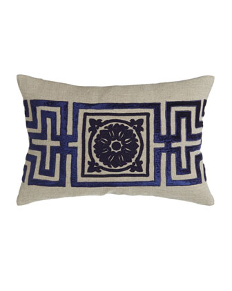 Pillow with Beaded Center Medallion, 15