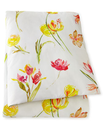 Queen Floral Duvet Cover, 86