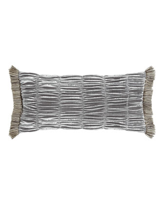 Ruched Velvet Pillow, 12