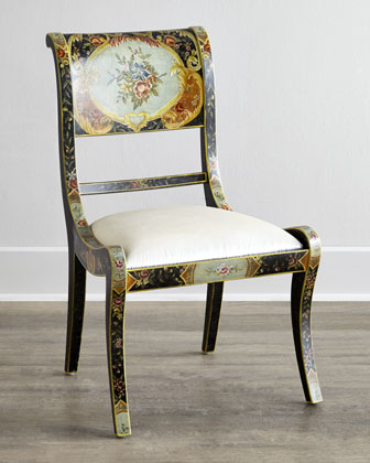 Cerise Floral Chair