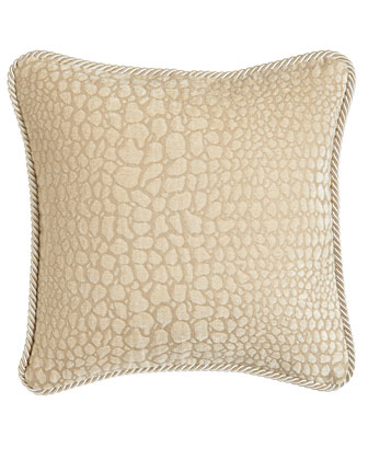 Ivory Pillow with Animal Pattern, 16