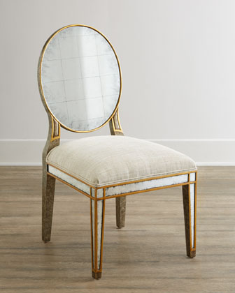 Lela Eglomise Side Chair