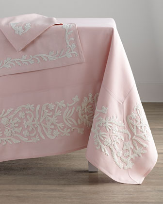 Dori Pink Tablecloth, 108