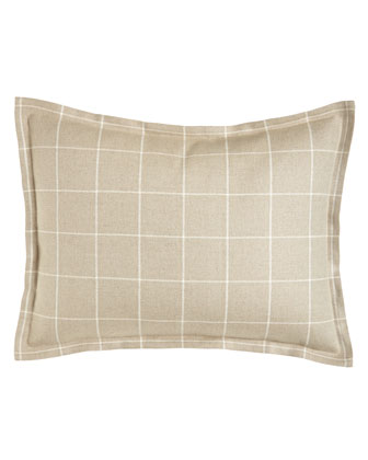 Standard Windowpane Plaid Linen Sham