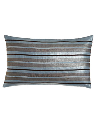 Bolster Pillow with Velvet Stripes, 13