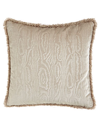 Velvet Pillow w/ Wood Grain Pattern, 18