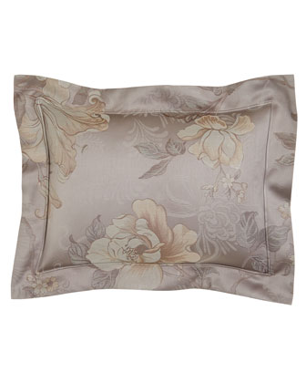Botanical Jacquard Boudoir Pillow, 12
