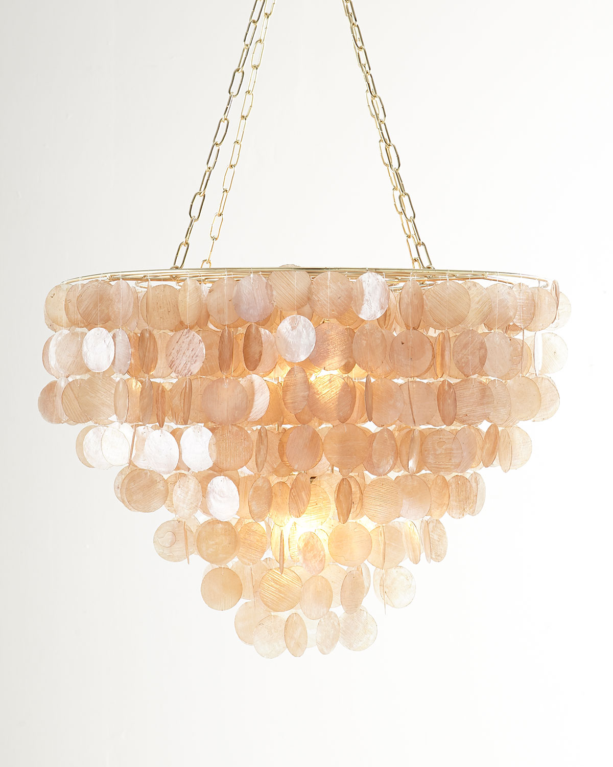 Rosalea 2Light Capiz Shell Chandelier, Pink