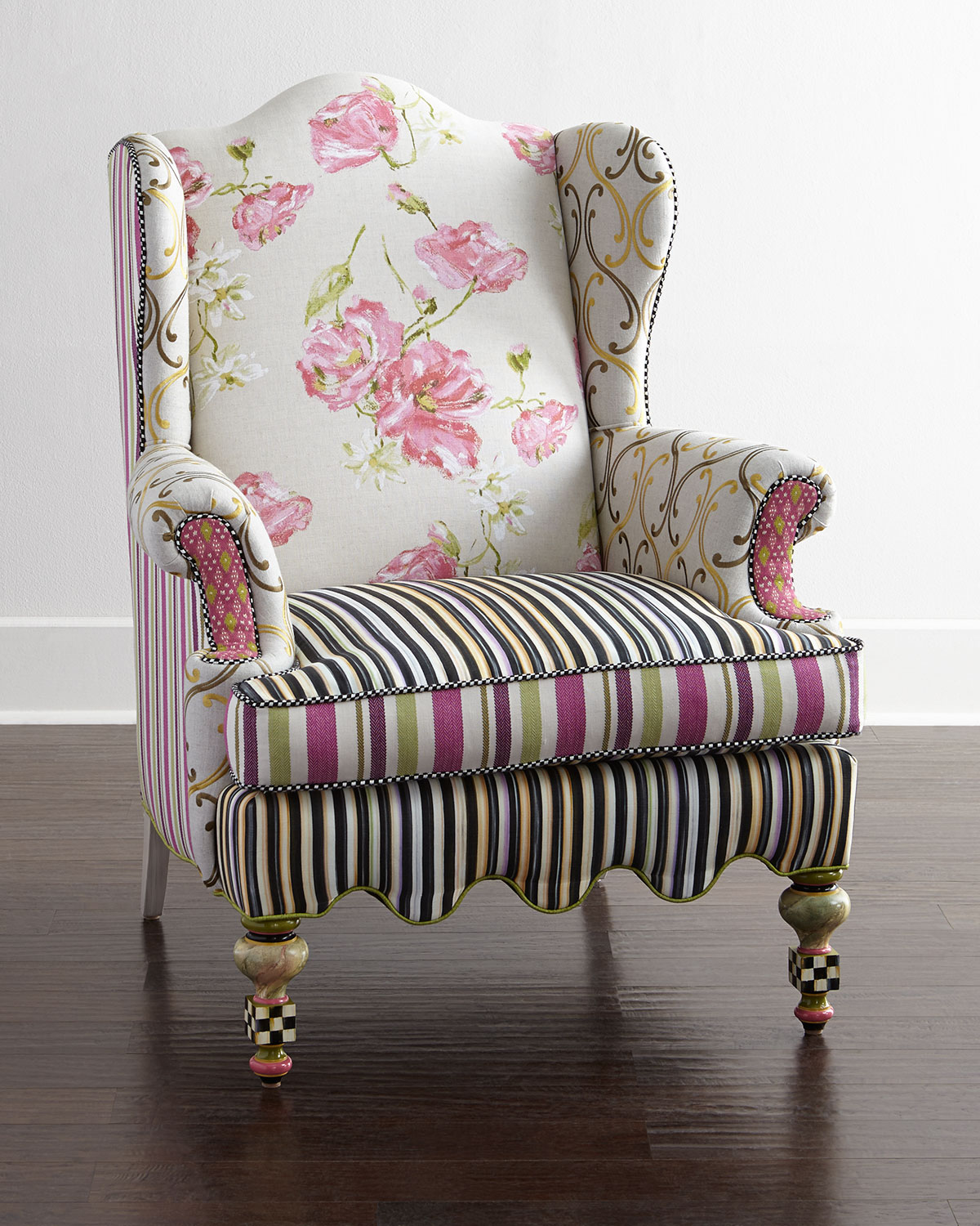 Summerhouse Wing Chair, Multi Colors