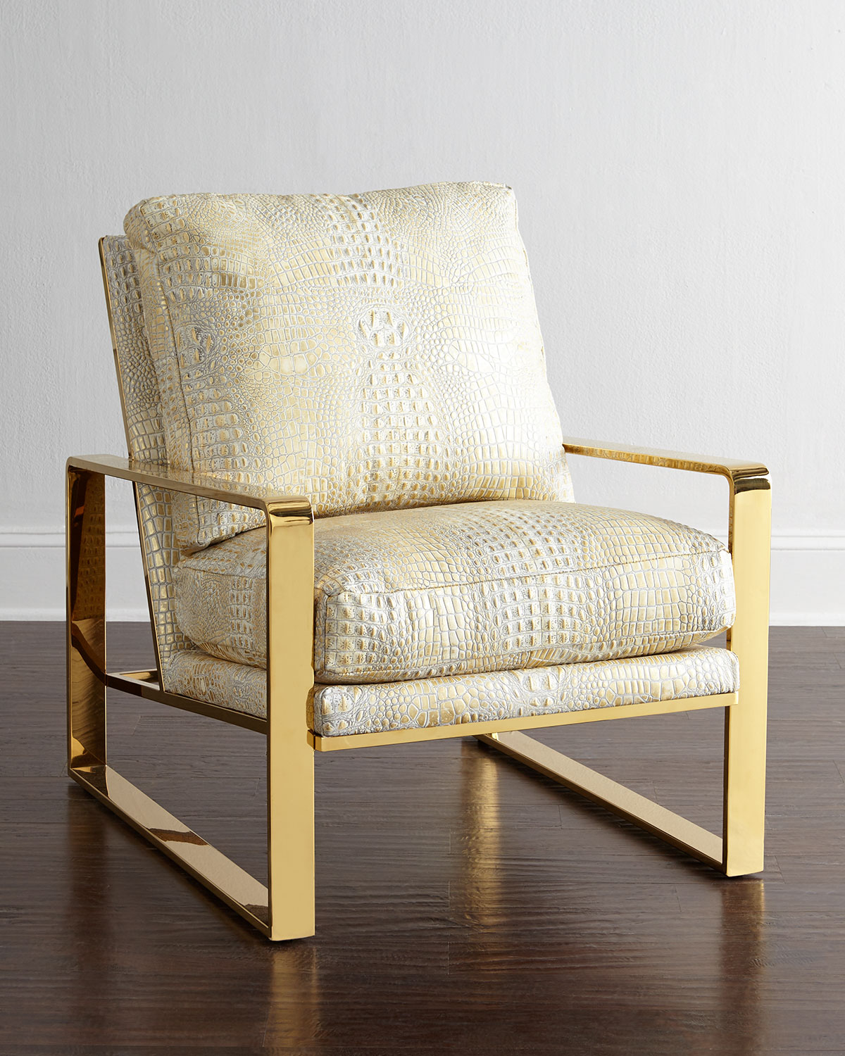 Dascha Leather Chair, Ivory