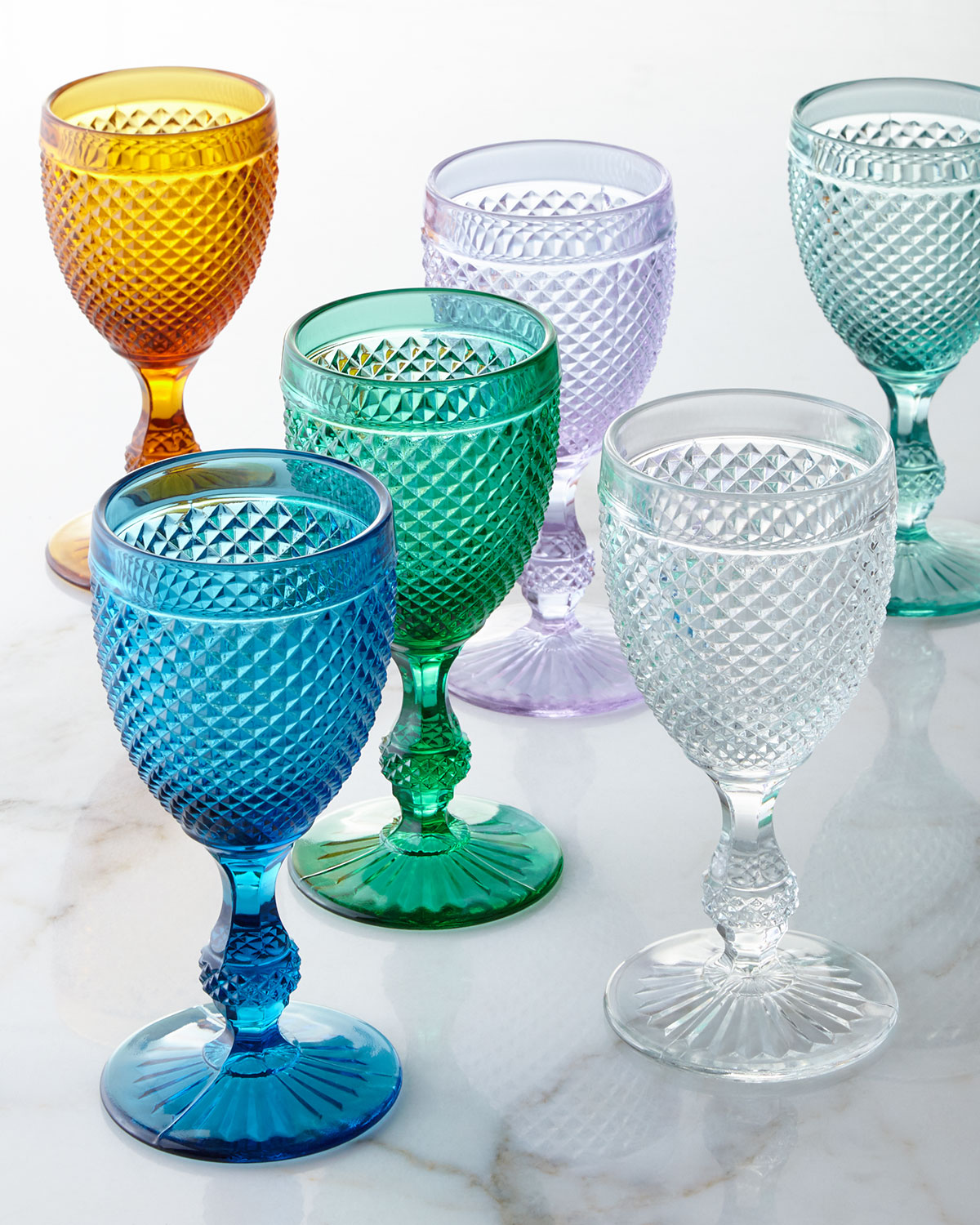 Bicos Goblets, Set of 4, Purple