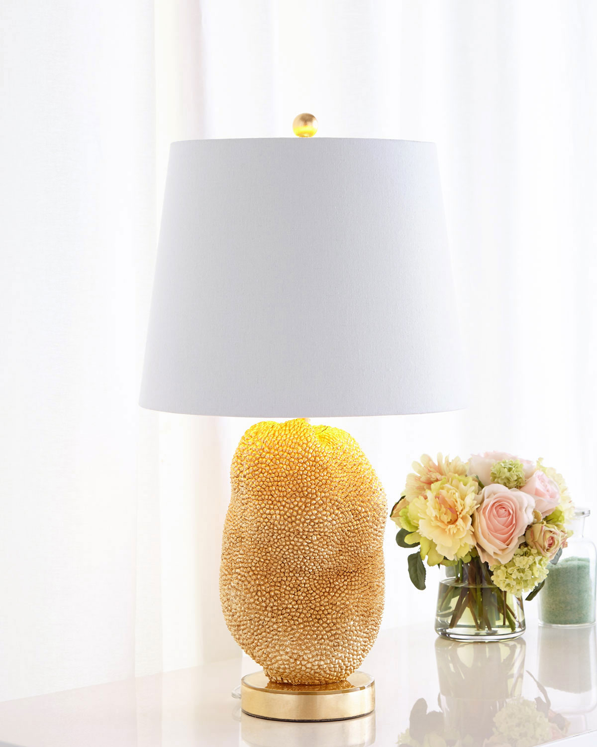 Jackfruit Table Lamp, Gold