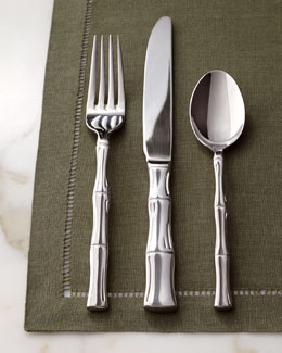 "CAMBRIDGE SILVERSMITH 45-Piece ""Bamboo"" Flatware"