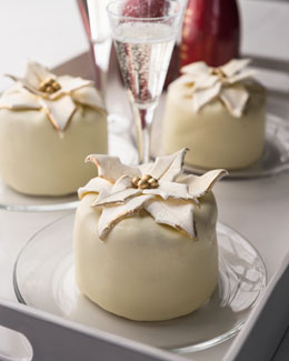 "Four Mini ""Poinsettia"" Cheesecakes"